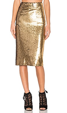 x REVOLVE Kiki Skirt in Gold
