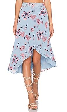 x REVOLVE Maya Wrap Skirt in Blue Floral