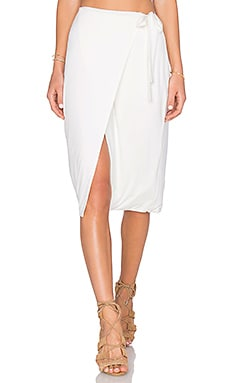 x REVOLVE Sloane Wrap Skirt in Ivory
