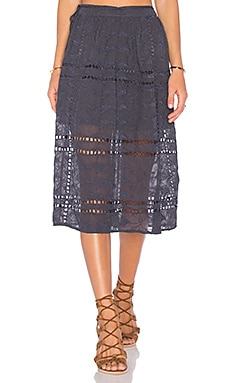 x REVOLVE Callie Midi Skirt in Ash