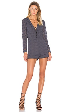 House of Harlow 1960 x REVOLVE Mila Long Sleeve Romper in Ash