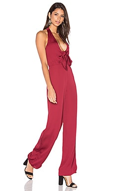 House of Harlow 1960 x REVOLVE Coco Tie Front Jumpsuit in Oxblood