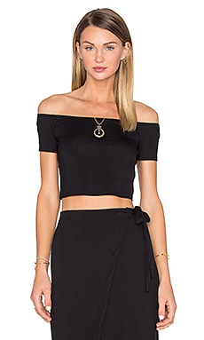 x REVOLVE Lola Off The Shoulder Crop in Black