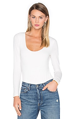 x REVOLVE Bella Long Sleeve Bodysuit in Ivory