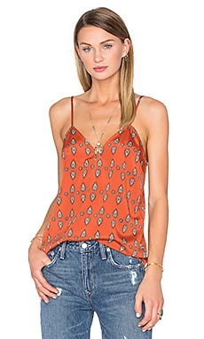 x REVOLVE Audrey V-Neck Cami in Red Orange Paisley