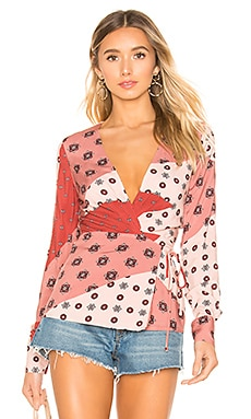 x REVOLVE Mar Wrap Top House of Harlow 1960 $168 NEW ARRIVAL