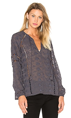 x REVOLVE Sophie V-Neck Blouse in Ash