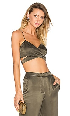 x REVOLVE Bardot Crop in Deep Olive