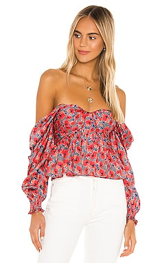x REVOLVE Burna Blouse House of Harlow 1960 $168