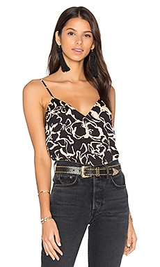 x REVOLVE Audrey V-Neck Cami in Noir Abstract Floral