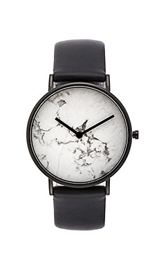 The Horse Watch in Polished Black & White Marble