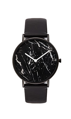 The Horse Watch in Polished Black & Black Marble