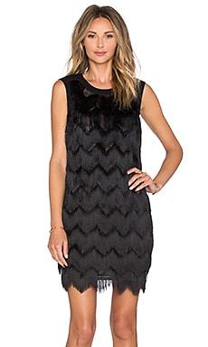 Hoss Intropia Fringe Mini Dress in Black