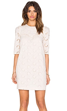Hoss Intropia Eyelet Dress in Light Pink