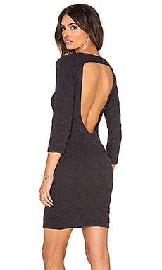 Hoss Intropia Back Cut Out Dress in Anthracite