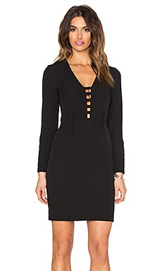 Hoss Intropia Long Sleeve Mini Dress in Black