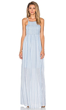Hoss Intropia Striped Maxi Dress in Denim