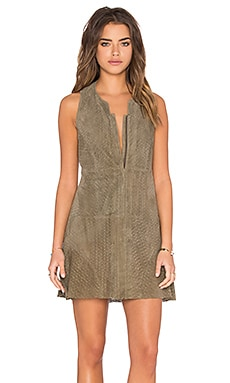 Hoss Intropia Front Zipper Dress in Khaki
