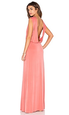 Open Back Maxi Dress in Blush