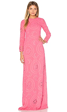 Long Sleeve Embroidered Maxi Dress