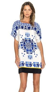 Hoss Intropia Tunic in Blue Print