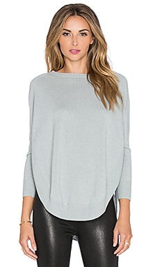 Hoss Intropia Curved Hem Sweater in Pale Blue