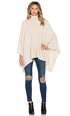 Hoss Intropia Turtleneck Poncho in Ivory