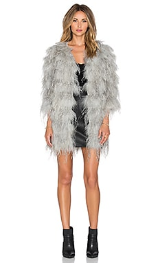 Hoss Intropia Feathered Duster in Grey