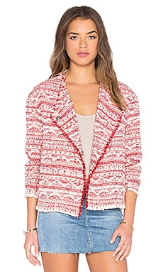 Printed Blazer in Red
