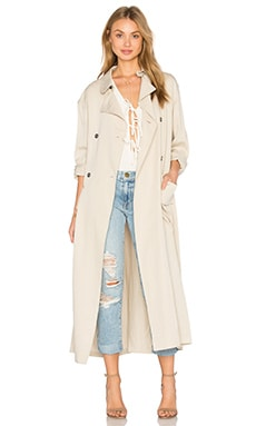 Hoss Intropia Trench Coat in Stone