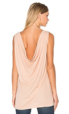 Draped Back Tank in Pale Pink