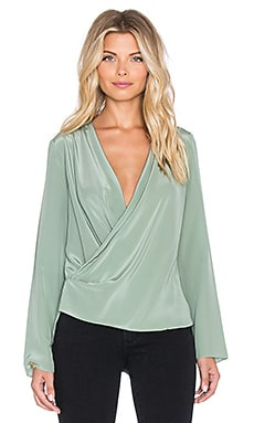 Surplice Blouse in Aloe
