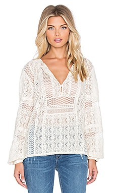 Hoss Intropia Eyelet Blouse in Ivory