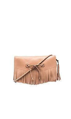 Fringe Crossbody Bag in Nude