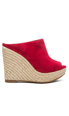 Hoss Intropia Open Back Wedge in Paprika