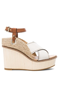 Mixed Wedge in White