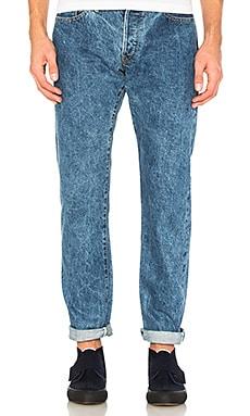 Фото - Узкие джинсы из окаяма сэлвиджа весом 155 унций the-s mills - The Hill-Side синего цвета