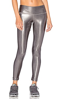 Brittany Compression 3/4 Legging in Grey Foil