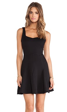Heather Square Neck Dress in Black
