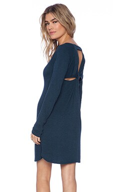 Heather Knot Back Dress in Heather Lagoon