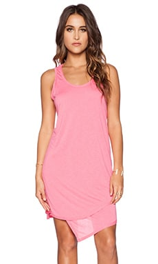 Heather Asymmetrical Double Layer Dress in Peony