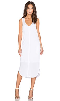 Heather Henley Shift Dress in White
