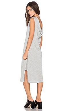 Heather Cowl Back Dress in Light Heather Grey