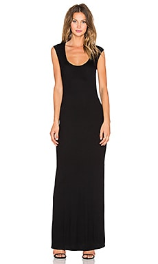 Heather Twist Back Dress in Black
