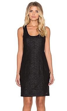 Heather Astral Zip Back Dress in Black