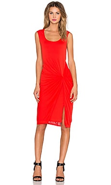 Heather Front Knot Dress in Scarlet