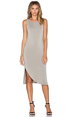 Heather Shirred Swoop Dress in Birch