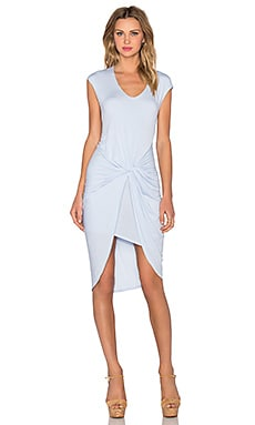 Heather Asymmetrical Knot Dress in Periwinkle