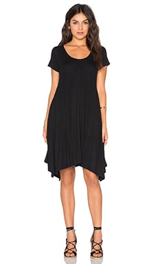 Paneled Trapeze Dress in Black