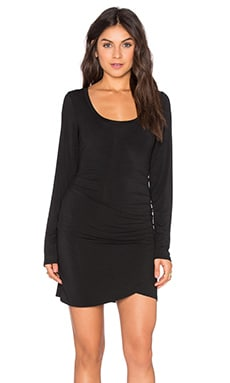 Tulip Hem Dress in Black
